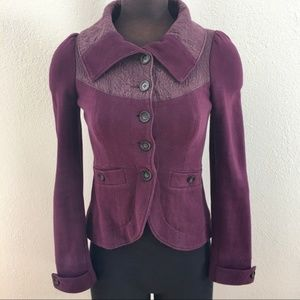 Free People Plum Blazer Size 2